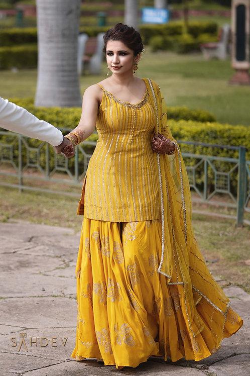 Mango Yellow Sharara