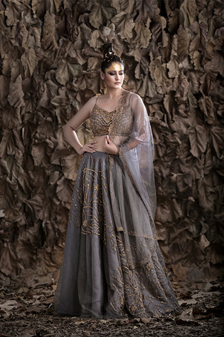 Shruti S light weight lehnga grey.jpg