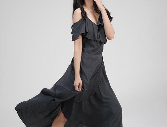 Slate Grey Wrap Dress