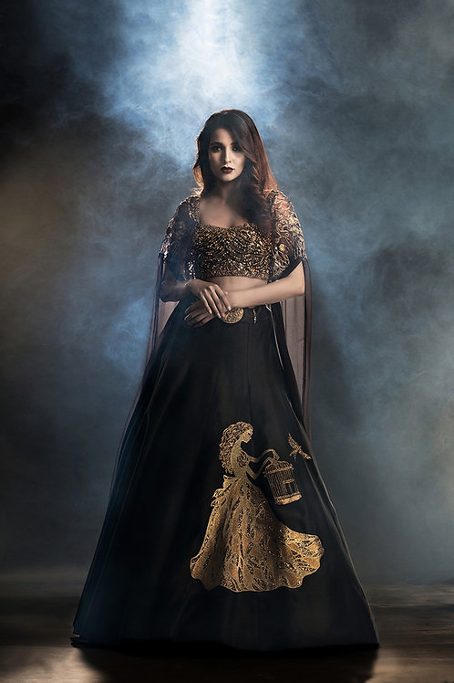 A Girl with the Cage Lehenga