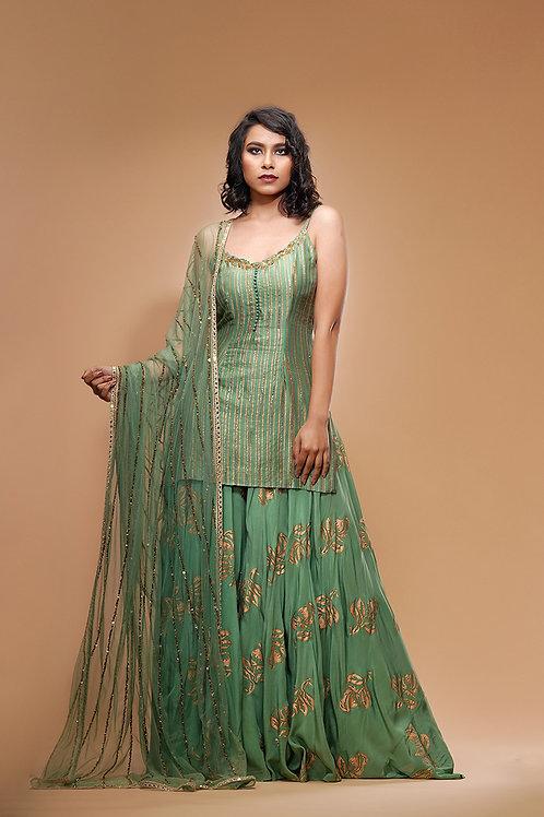 Sage Green Sharara
