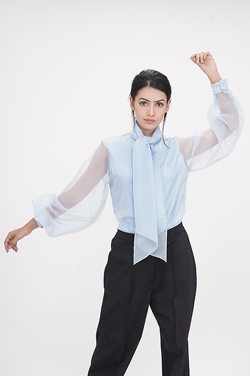 Bishop Sleeves Organza Shirt