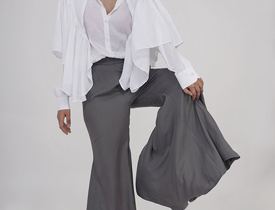 High-low Flared Bell-pants