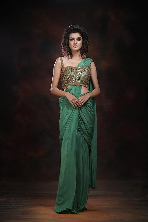 Draped saree