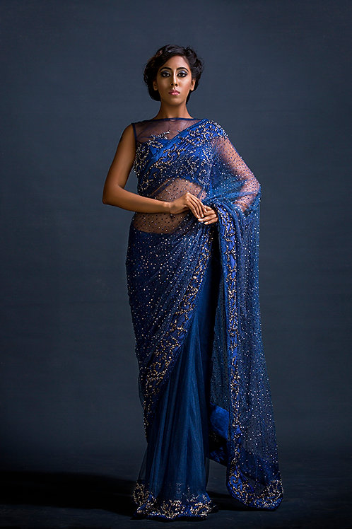 Galaxy Pearl work Sari