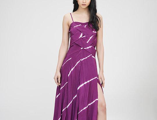 Flared Maxi Dress in Tie-dye