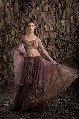 Shruti S light weight lehenga antique go