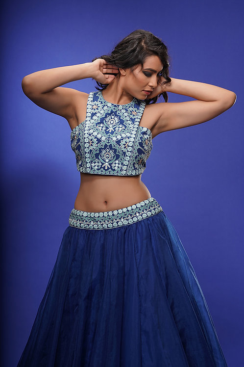 Racer Blouse with Lehenga