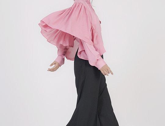 Easy Cotton Ruffled shirt - Pink