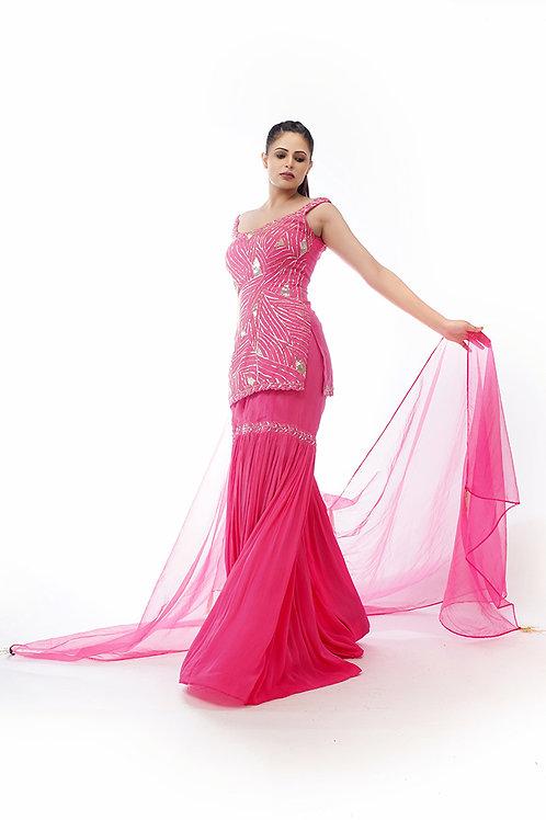 Hot Pink Gharara
