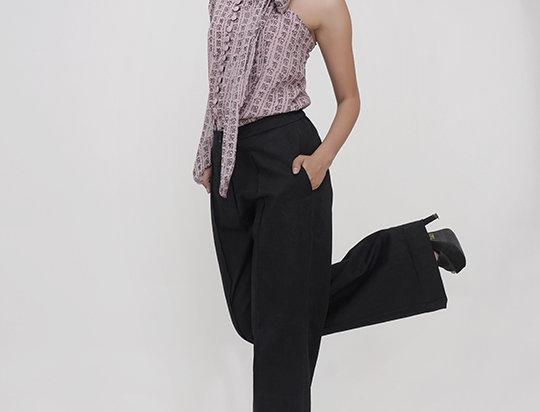 Lilac One-shoulder shirt