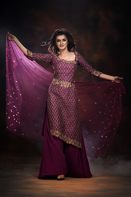 Shruti S sharara suit wine.jpg