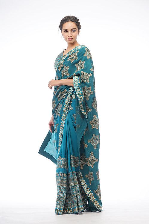 Dual-tone Silk Saree