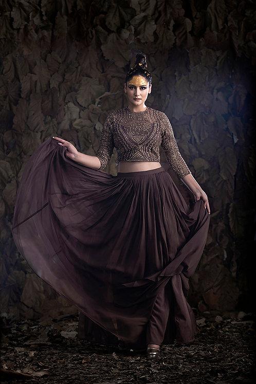 Tavus Crop top Skirt