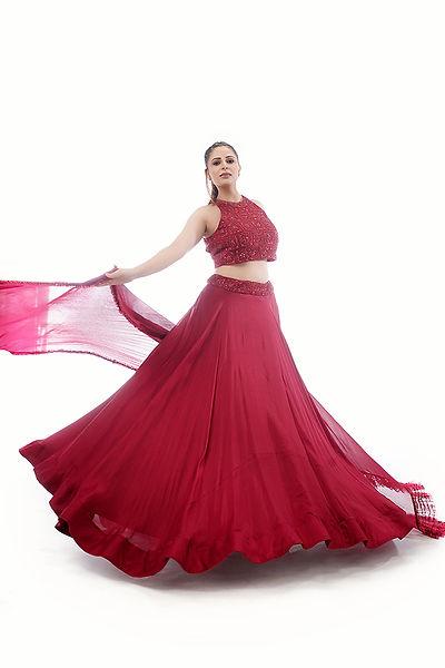 Beautiful Red lehenga by Shruti S.jpg