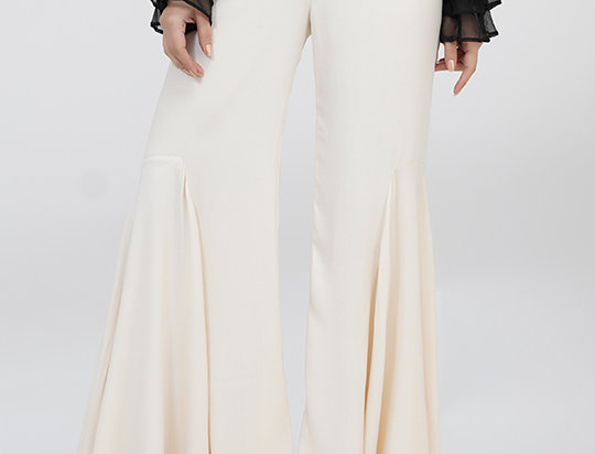 Flared Bell-pants Beige