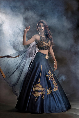 shruti s cages lehenga with attached dup
