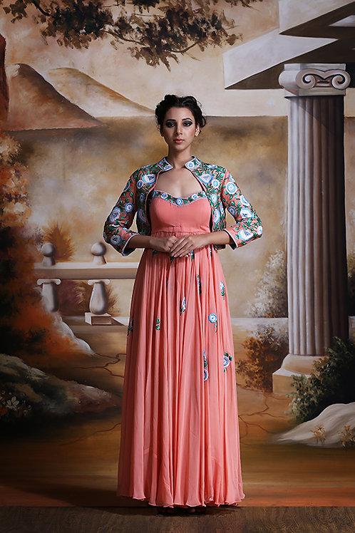 Jacket Anarkali Floral