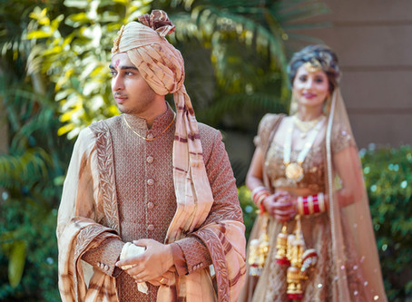 Shruti S Bride n Groom - Pragati & Divanshu - in Co-ordinated outfits.