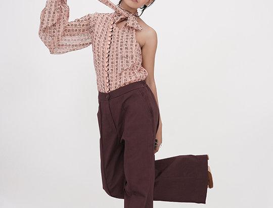 Peach One-shoulder shirt