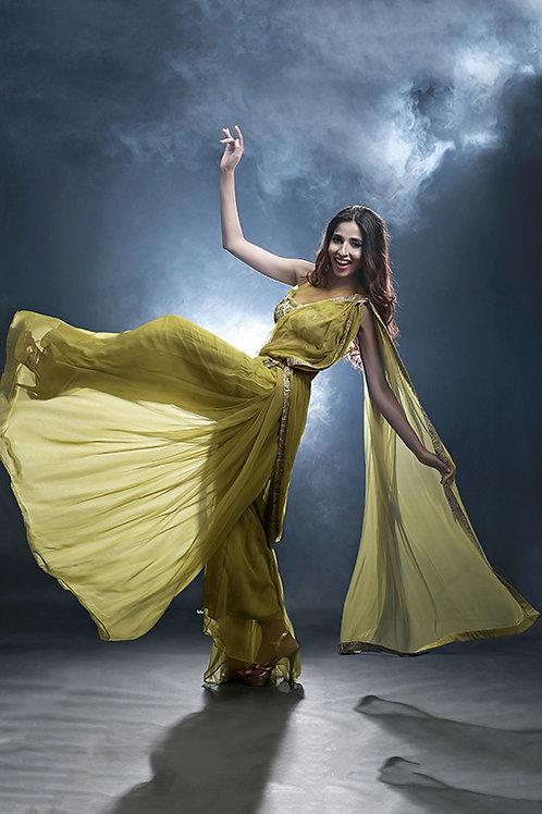 Bell-bottom saree