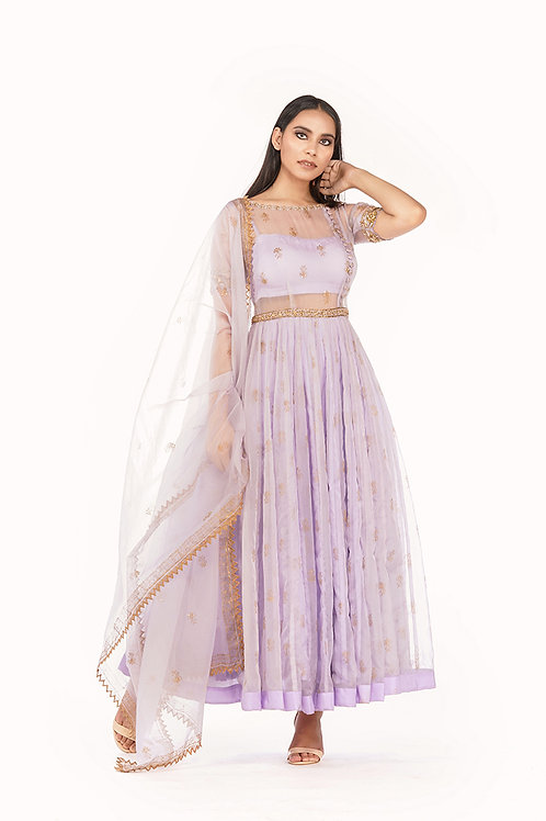 Sheer Organza Anarkali