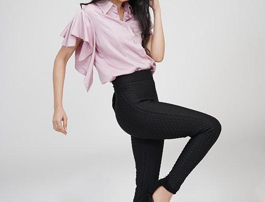 Circular Sleeves shirt Pink