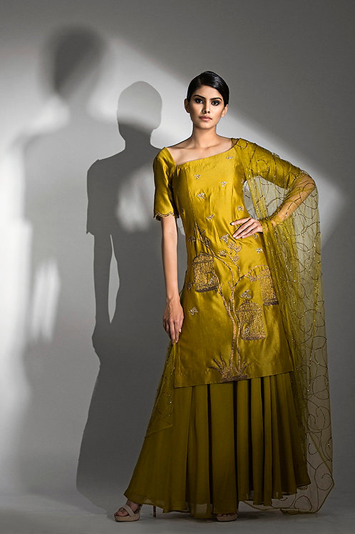 Cages Suit with Sharara