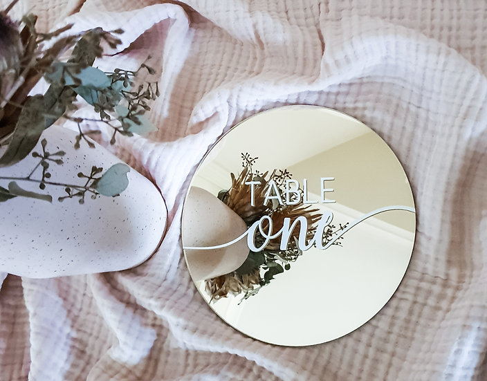 Circle Acrylic Table Numbers
