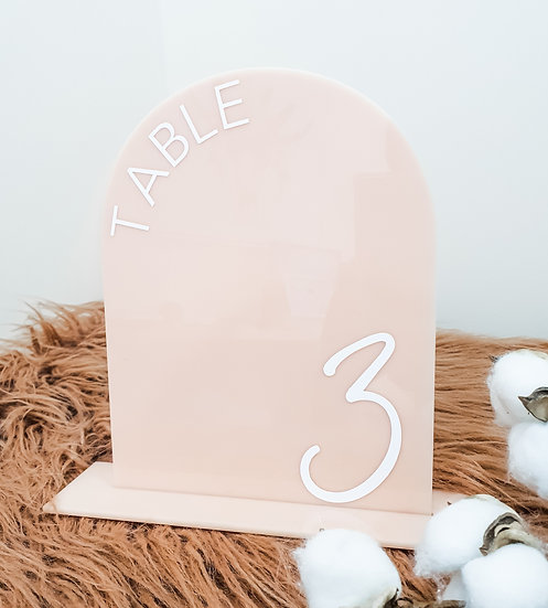 Arch Acrylic Table Numbers