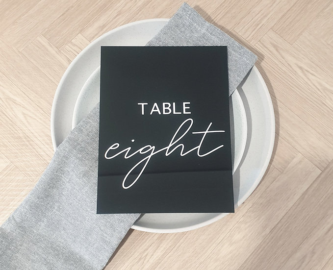 Rectangle Acrylic Table Numbers
