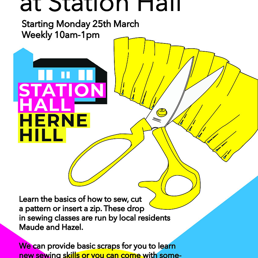 Sewing Sessions at Station Hall - Mondays 10am -1pm