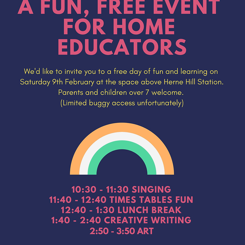 9 FEB - Free Home Educators Event