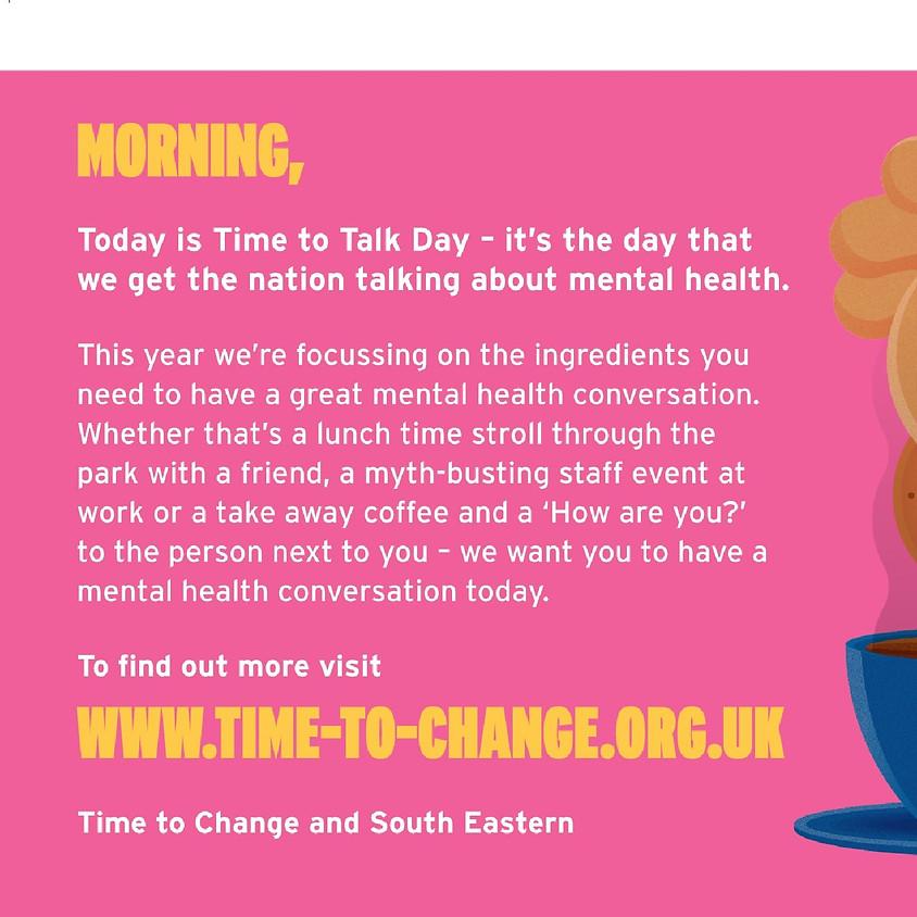 7 FEB - Time to Talk Mental Health & Wellbeing Fair FREE