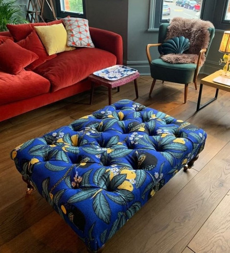 Clemmie Rothwell - Deep buttoned upholstery