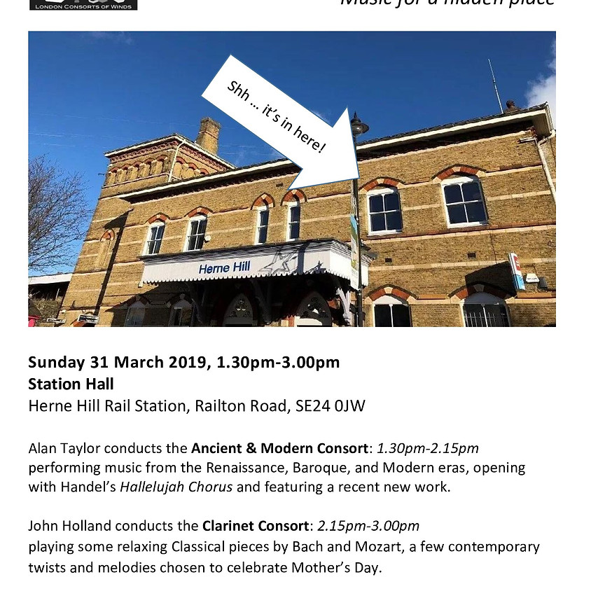 31 MARCH - London Consort of Winds FREE