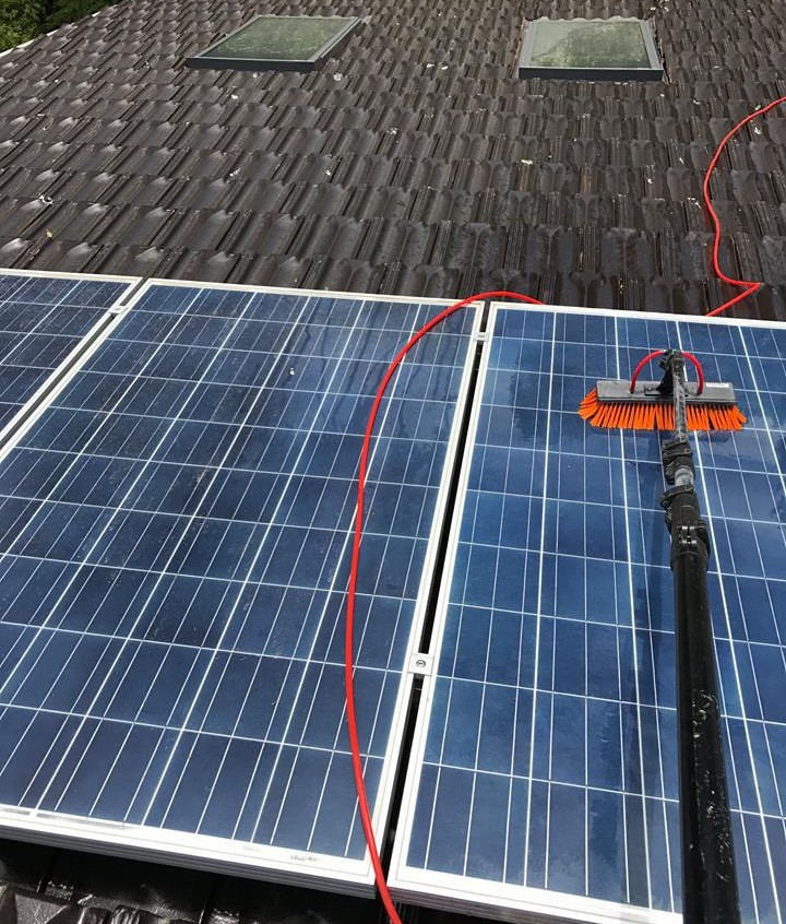 Solar panel cleaning, producing more eff