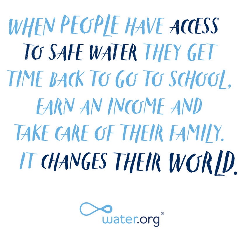 Water.org-the charity organisation Leighs window cleaning chooses to fully support.