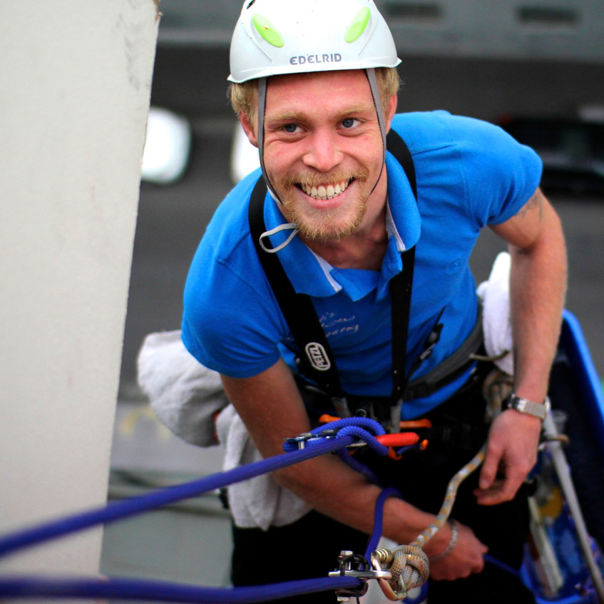Tommy-Abseiling technician and part time...model.