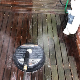Smashing out the deck prepping with our