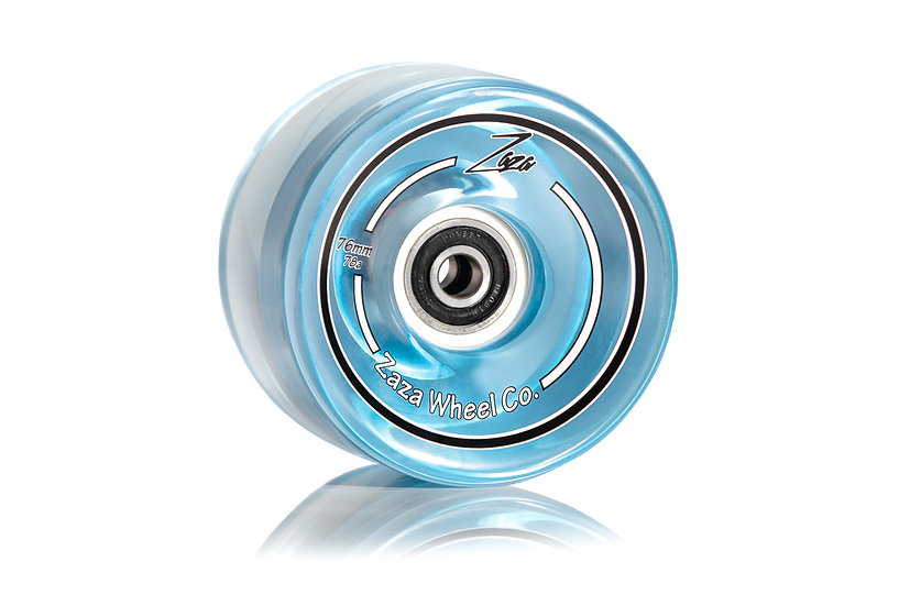 Zaza Longboard skateboard Skate wheels Clear Blue