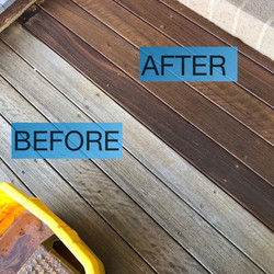 Deck clean and re-oil