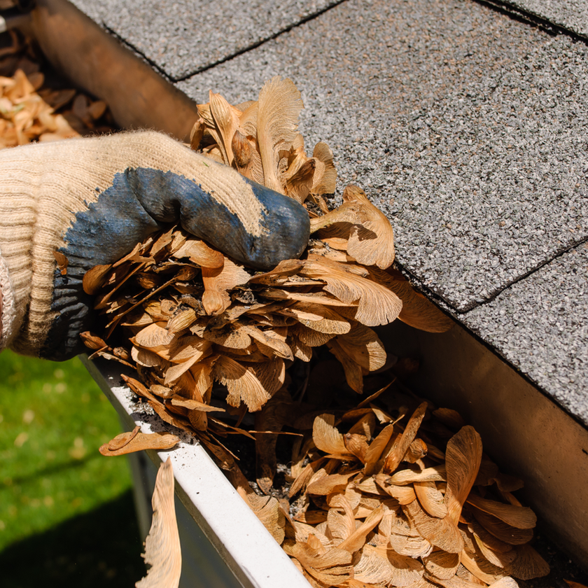 Clean flowing gutters are important!