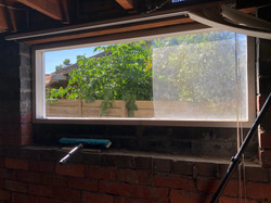 Leighs window cleaning before after.