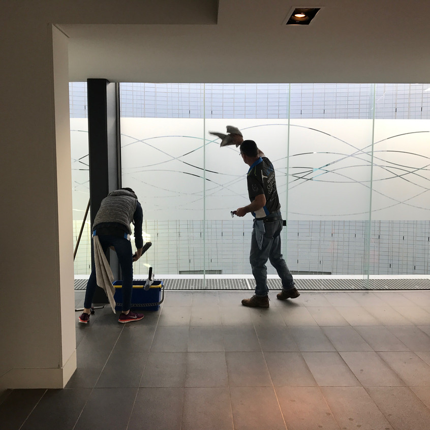 Brian & Leyya perfecting the Body Corporate grounds for Leighs Window Cleaning Melbourne.