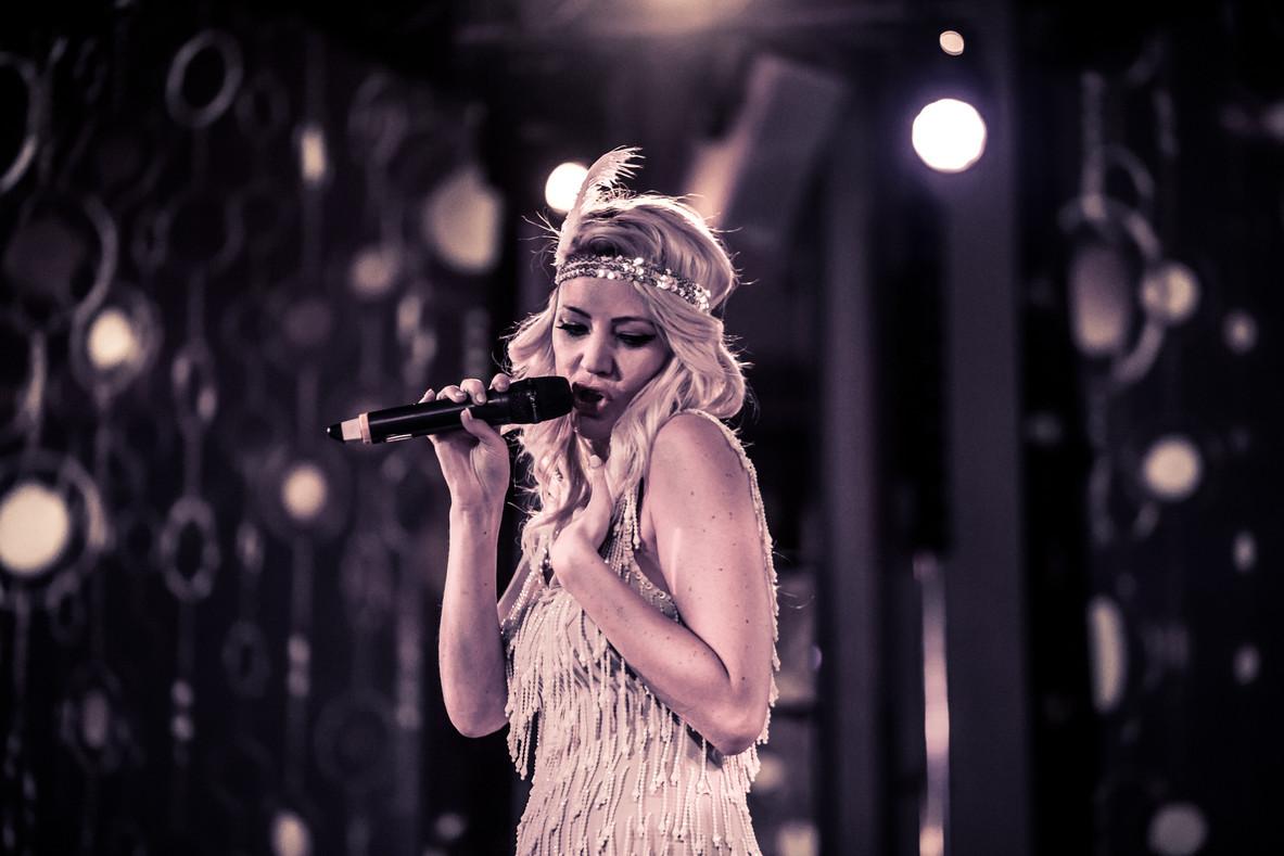Female performer at London event Croydon photographer blaqpix