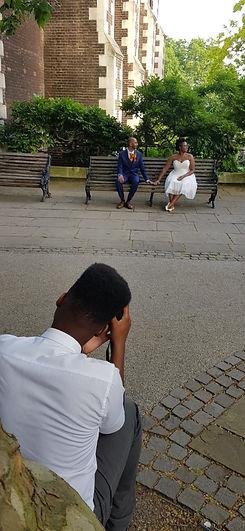 Wedding photo taken on phone Croydon Photographer