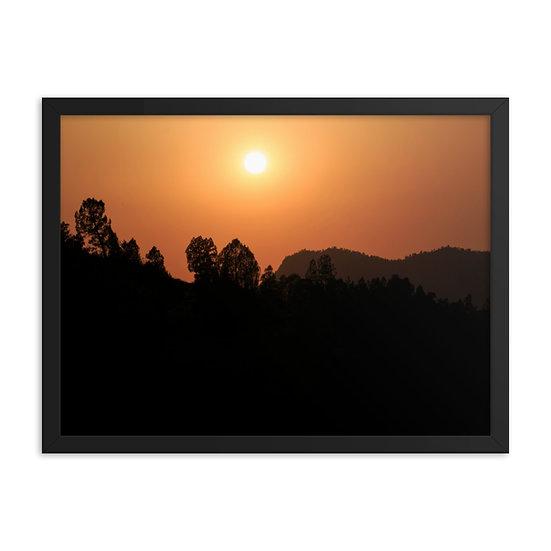 Moroccan sunset print Framed