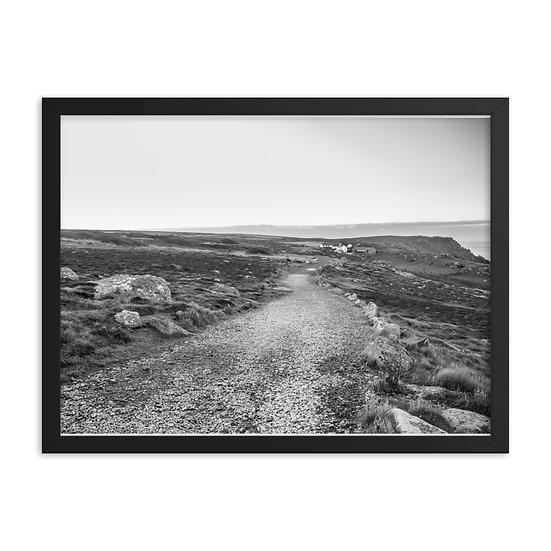 Black and White photo Landsend Landscape Framed poster
