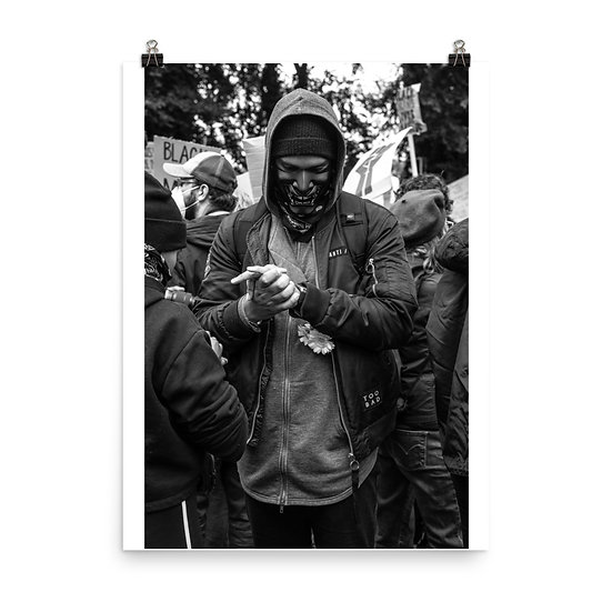 Masked man print